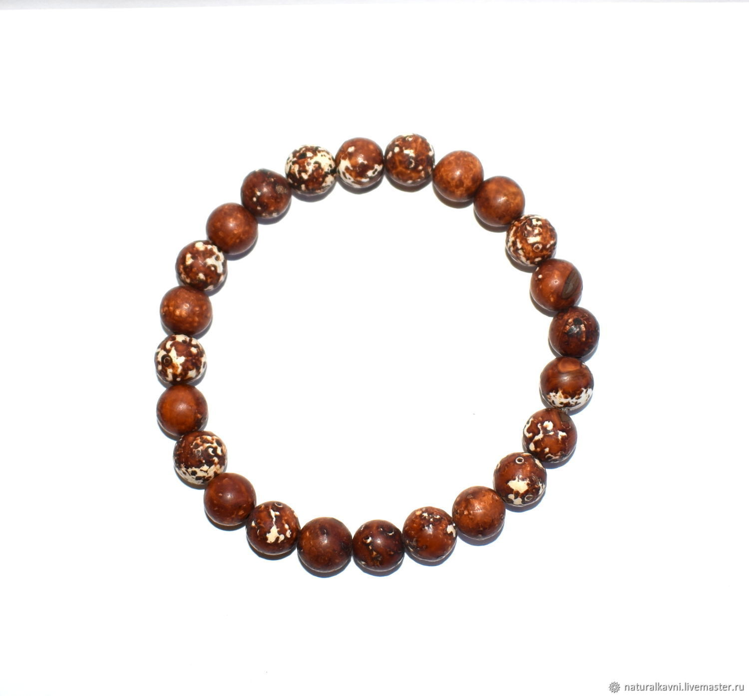 Men's/women's bracelet made of natural African agate, Bead bracelet, Moscow,  Фото №1
