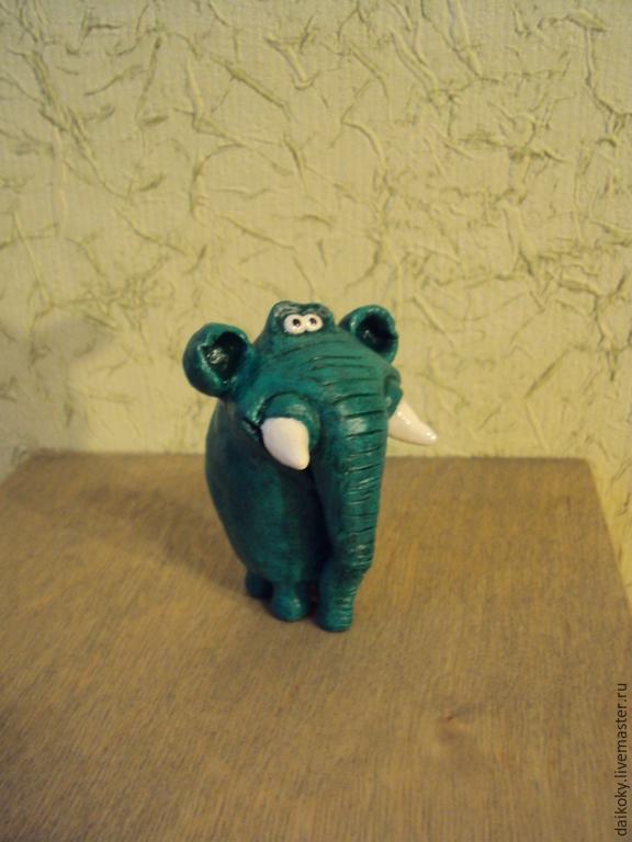 Слоник - зелененький он был, Миниатюрные игрушки, Москва, Фото №1