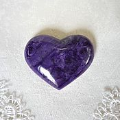 Сувениры и подарки handmade. Livemaster - original item Heart made of charoite. Handmade.