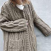 Одежда handmade. Livemaster - original item Beautiful soft cardigan Alpaca knitted Coat. Handmade.