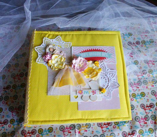 Фотоальбомы ручной работы. Ярмарка Мастеров - ручная работа. Купить Детский фотоальбом для девочки. Handmade. Разноцветный, переплётный картон
