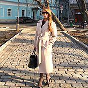 Одежда ручной работы. Ярмарка Мастеров - ручная работа Пальто демисезонное из ворсовой шерсти. Handmade.