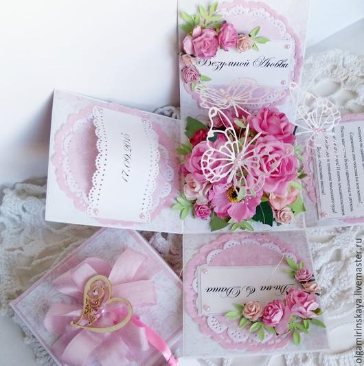 Подарки на свадьбу ручной работы. Ярмарка Мастеров - ручная работа. Купить Подарочная коробочка Magic Box. Handmade. Розовый