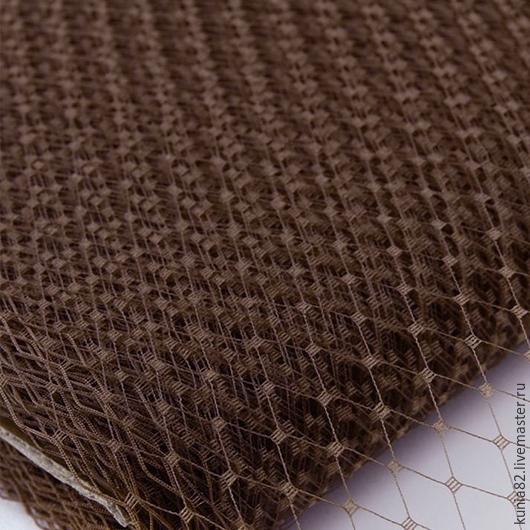 Вуаль для шляп цвет ТЕМНО-КОРИЧНЕВЫЙ полуфабрикат для изготовления шляп и головных уборов. Анна Андриенко. Ярмарка Мастеров.