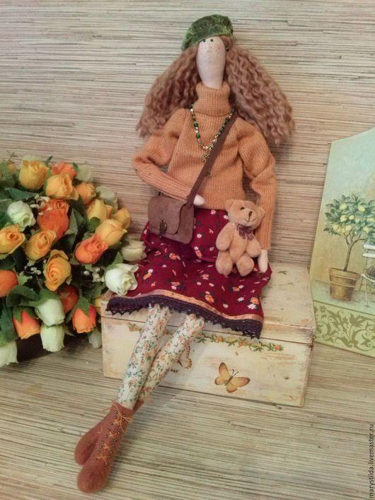 Куклы Тильды ручной работы. Ярмарка Мастеров - ручная работа. Купить Кукла тильда  осенняя Арина фея ангел. Handmade.