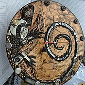 Для дома и интерьера handmade. Livemaster - original item Lizard wall clock steampunk. Handmade.