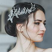 Свадебный салон ручной работы. Ярмарка Мастеров - ручная работа Свадебный венок из жемчуга для волос. Венок на голову. Для невесты. Handmade.