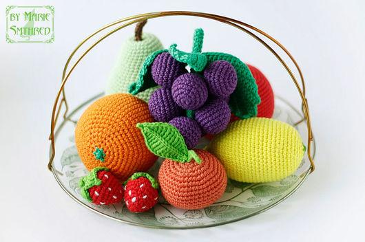 Еда ручной работы. Ярмарка Мастеров - ручная работа. Купить Набор фруктов. Handmade. Комбинированный, вязаные фрукты, хлопок 100%