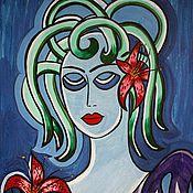 """Картины и панно ручной работы. Ярмарка Мастеров - ручная работа Картина """"Дама в голубом"""". Handmade."""