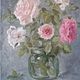 Натюрморт ручной работы. Розовый букет.... AllaRo. Ярмарка Мастеров. Натюрморт с розами, масляная живопись, букет роз
