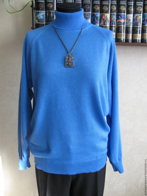 водолазка женская голубая купить в интернет магазине на ярмарке