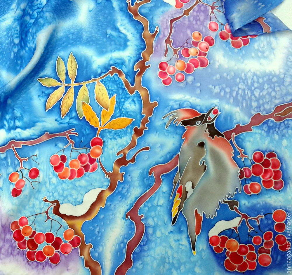 Зимний платок