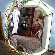 """Для дома и интерьера ручной работы. Ярмарка Мастеров - ручная работа зеркало """"Магнолия"""". Handmade."""