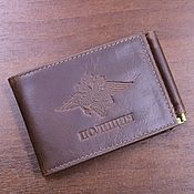 Канцелярские товары handmade. Livemaster - original item ID cover money clip POLICE. Handmade.