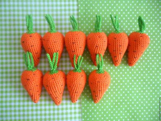 """Развивающие игрушки ручной работы. Ярмарка Мастеров - ручная работа. Купить Счетный материал """"Морковки"""". Handmade. Морковка, развитие ребенка"""
