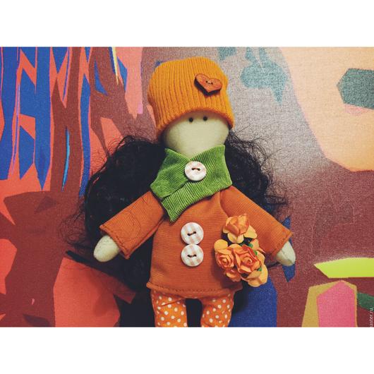 Коллекционные куклы ручной работы. Ярмарка Мастеров - ручная работа. Купить Интерьерная Кукла Мандаринка. Handmade. Рыжий, интерьерная кукла