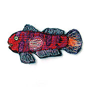 Материалы для творчества handmade. Livemaster - original item Author stripe (applique) handmade Fish California bullhead. Handmade.