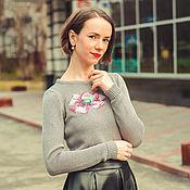 Одежда handmade. Livemaster - original item Embroidery jumper. Handmade.