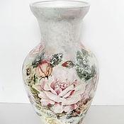 Для дома и интерьера ручной работы. Ярмарка Мастеров - ручная работа Ваза  Розы,розы.... Handmade.