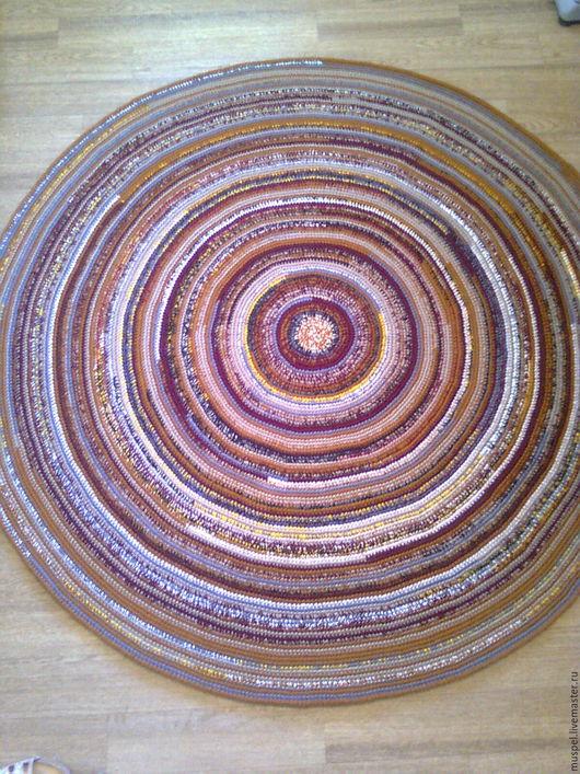 Текстиль, ковры ручной работы. Ярмарка Мастеров - ручная работа. Купить Коврик круглый пестрый. Handmade. Комбинированный, половик