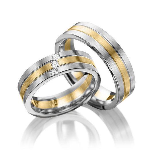 Свадебные украшения ручной работы. Ярмарка Мастеров - ручная работа. Купить Обручальные кольца Combined 90-028 NEW. Handmade.