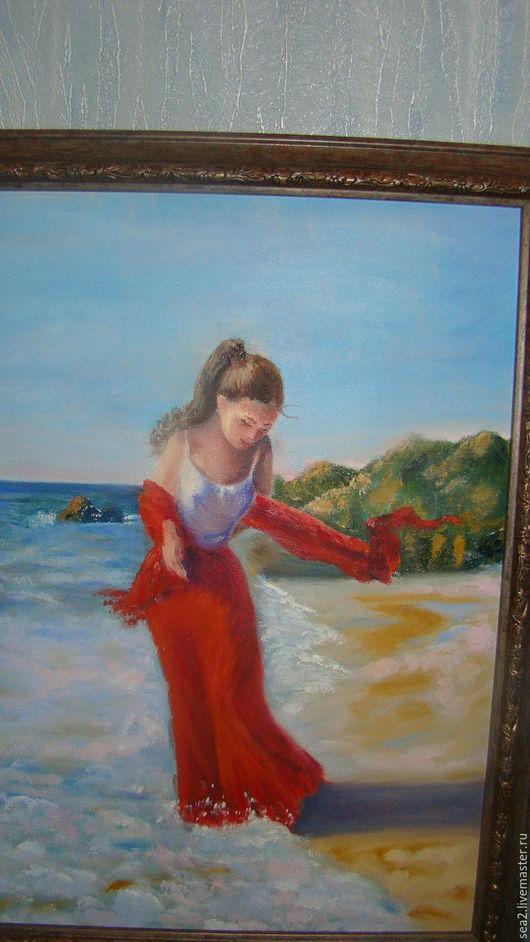 Люди, ручной работы. Ярмарка Мастеров - ручная работа. Купить Девушка у моря (копия). Handmade. Подарок на любой случай