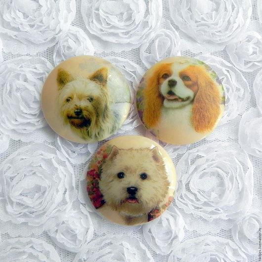 Шитье ручной работы. Ярмарка Мастеров - ручная работа. Купить Коллекция Породы собак,чешская пуговица,богемское стекло,собаки,друг. Handmade.