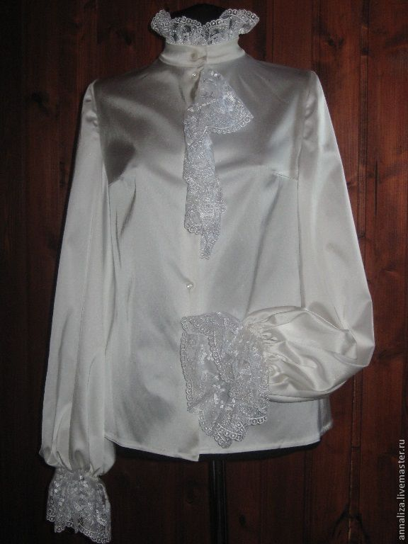 Blouse in Victorian style with delicate frill, Blouses, Moscow,  Фото №1
