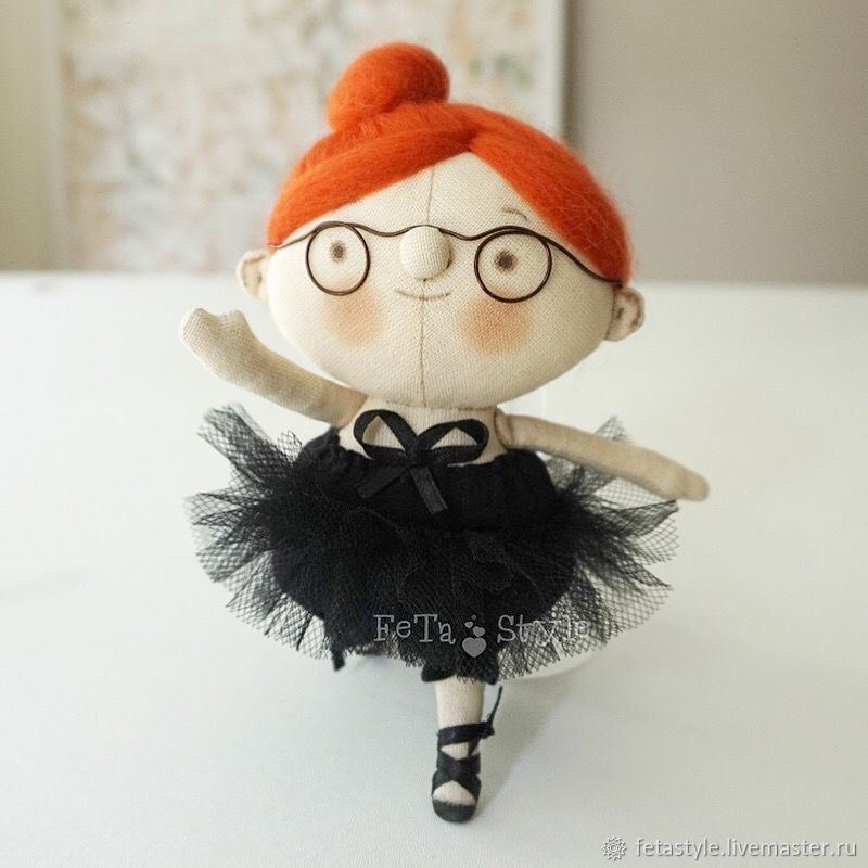 Ballerina red Petite doll, Stuffed Toys, Velikiy Novgorod,  Фото №1
