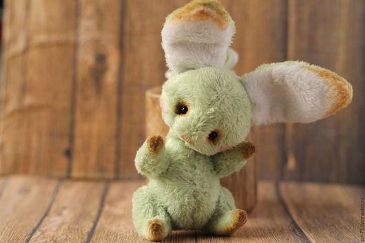 Мишки Тедди ручной работы. Ярмарка Мастеров - ручная работа. Купить Зелёный зайчик! 8,5 см!. Handmade.