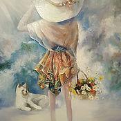 Картины и панно handmade. Livemaster - original item Hello morning! Oil painting.. Handmade.