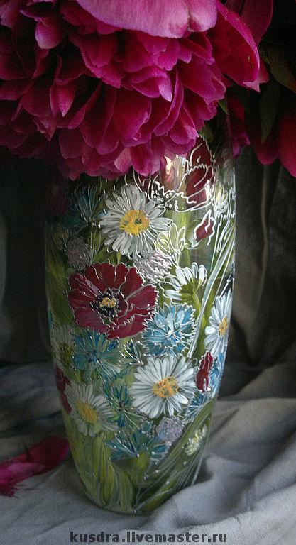 Ваза Полевые цветы, Вазы, Санкт-Петербург,  Фото №1