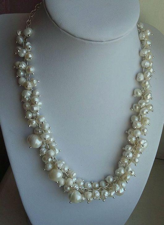 Колье, бусы ручной работы. Ярмарка Мастеров - ручная работа. Купить Ожерелье из натурального жемчуга.. Handmade. Жемчуг натуральный, жемчуг