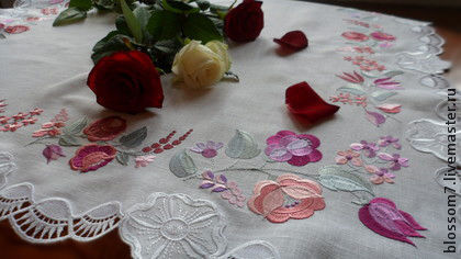 Текстиль, ковры ручной работы. Ярмарка Мастеров - ручная работа. Купить Салфетка вышитая. Handmade. Белый, домашний текстиль