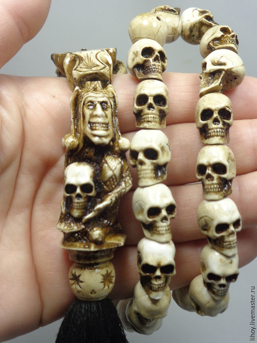 """Четки ручной работы. Ярмарка Мастеров - ручная работа. Купить Четки с черепами """"Джокер"""". Handmade. Четки, четки купить"""