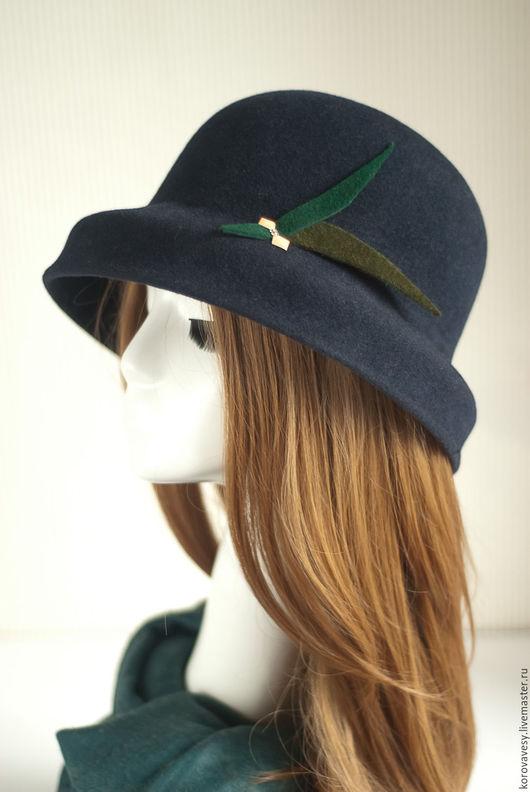 """Шляпы ручной работы. Ярмарка Мастеров - ручная работа. Купить """"Елисейские поля"""". Handmade. Тёмно-синий, подарок"""
