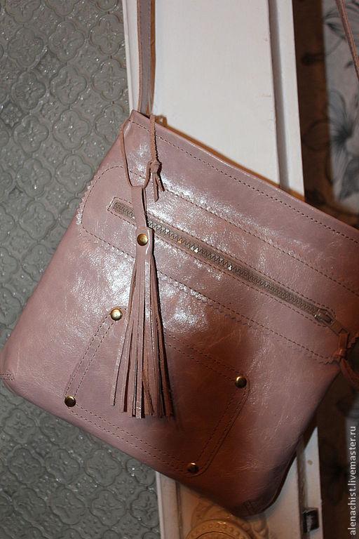 Женские сумки ручной работы. Ярмарка Мастеров - ручная работа. Купить Кожаная сумочка. Handmade. Бежевый, небольшая сумка
