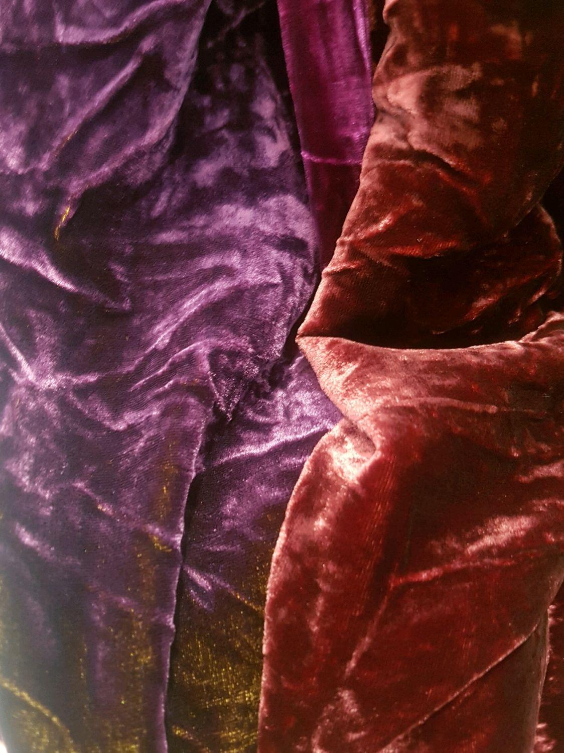 Шитье ручной работы. Ярмарка Мастеров - ручная работа. Купить Бархат крэш шелковый в ассортименте, ткань  Италия. Handmade.