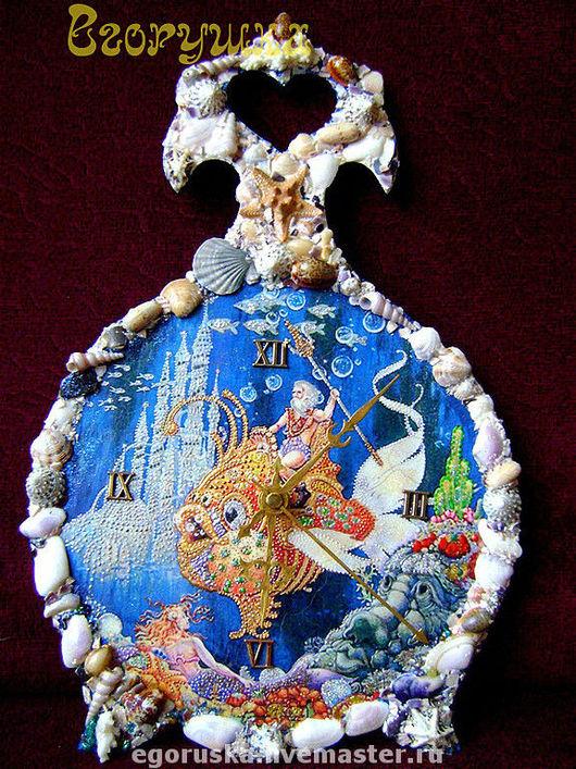 Часы для дома ручной работы. Ярмарка Мастеров - ручная работа. Купить Часы Владыка морей. Handmade. Часы, морская тематика