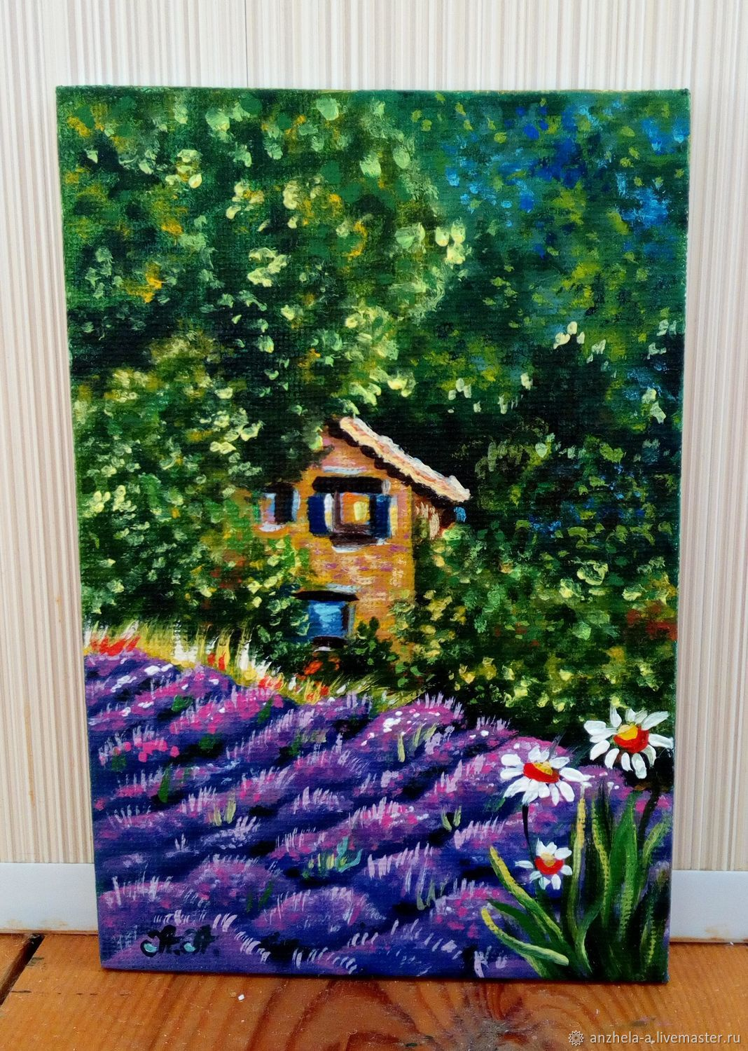 'Daisy in Provence' oil on canvas miniature, Pictures, Moscow, Фото №1