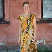 """Одежда ручной работы. Ярмарка Мастеров - ручная работа Платье """" Экзотика.........""""войлок. Handmade."""