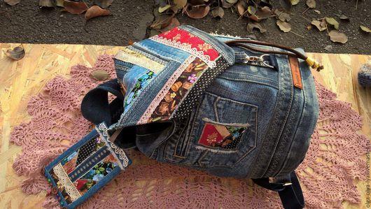 """Рюкзаки ручной работы. Ярмарка Мастеров - ручная работа. Купить Рюкзак """"Унесённые ветром"""". Handmade. Разноцветный, лоскутная техника"""