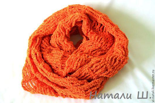 Шарфы и шарфики ручной работы. Ярмарка Мастеров - ручная работа. Купить Шарф-снуд Оранжевое настроение. Handmade. Рыжий
