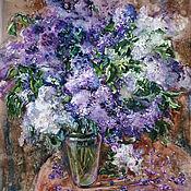 Картины и панно handmade. Livemaster - original item Watercolor painting a Bouquet of lilacs. Handmade.
