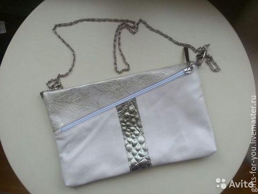 Белая сумка-клатч