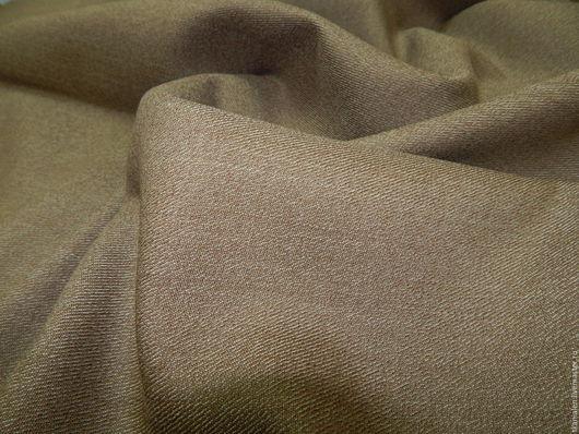 Шитье ручной работы. Ярмарка Мастеров - ручная работа. Купить Шерстяная ткань(1), Италия. Handmade. Коричневый, костюм, ткани Италии