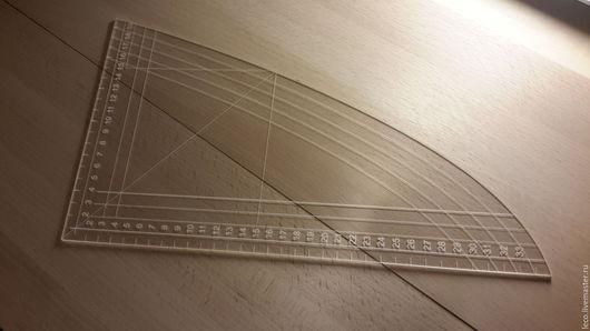 Шитье ручной работы. Ярмарка Мастеров - ручная работа. Купить Лекало треугольник, портновские линейки 2 мм. Handmade.
