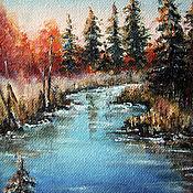 Картины и панно handmade. Livemaster - original item Oil painting picture QUIET RIVER. Handmade.