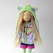 Куклы и игрушки ручной работы. Ярмарка Мастеров - ручная работа Лиза. Текстильная интерьерная кукла- блондинка с длинными волосами. Handmade.