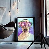 Картины ручной работы. Ярмарка Мастеров - ручная работа Портрет на заказ по фото. Handmade.